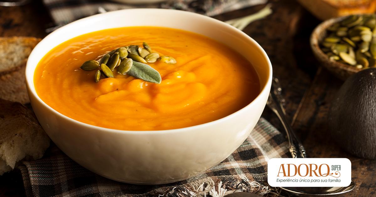 Aprenda a fazer sopa de abóbora